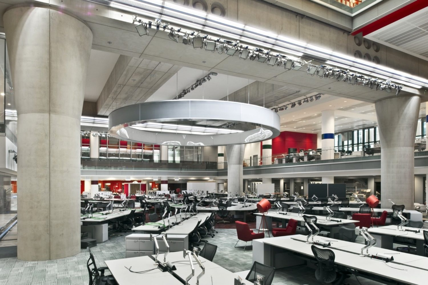 BBC open plan office fit out