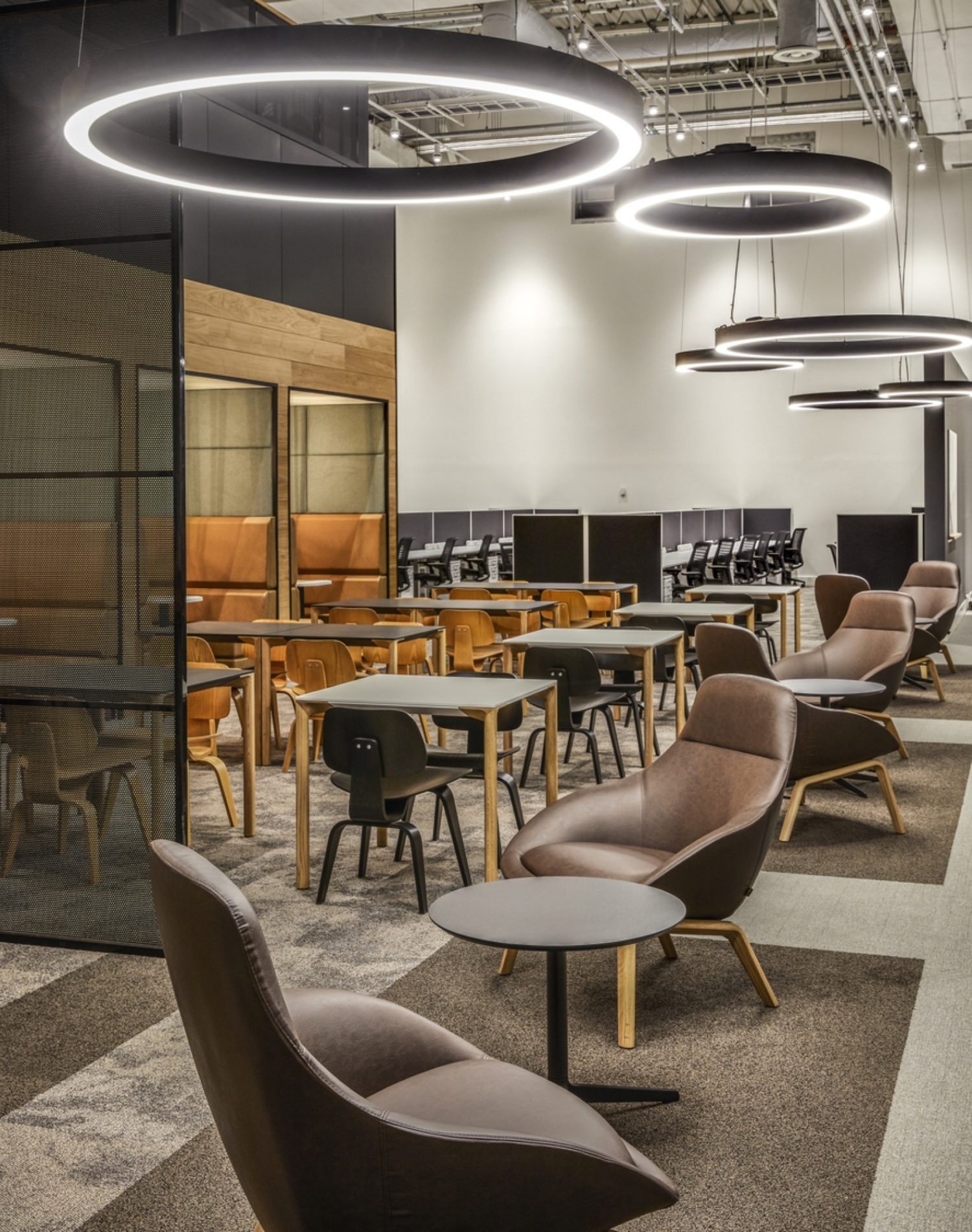 DXC communal space in office fit out