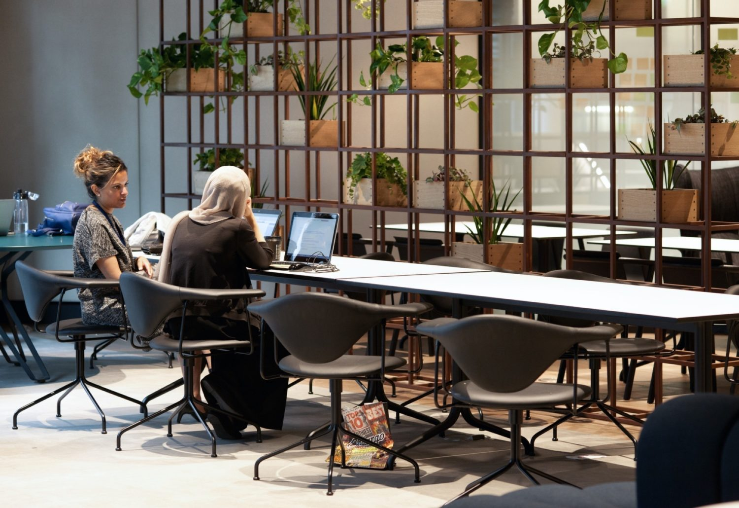Deloitte sustainable open plan office fit out