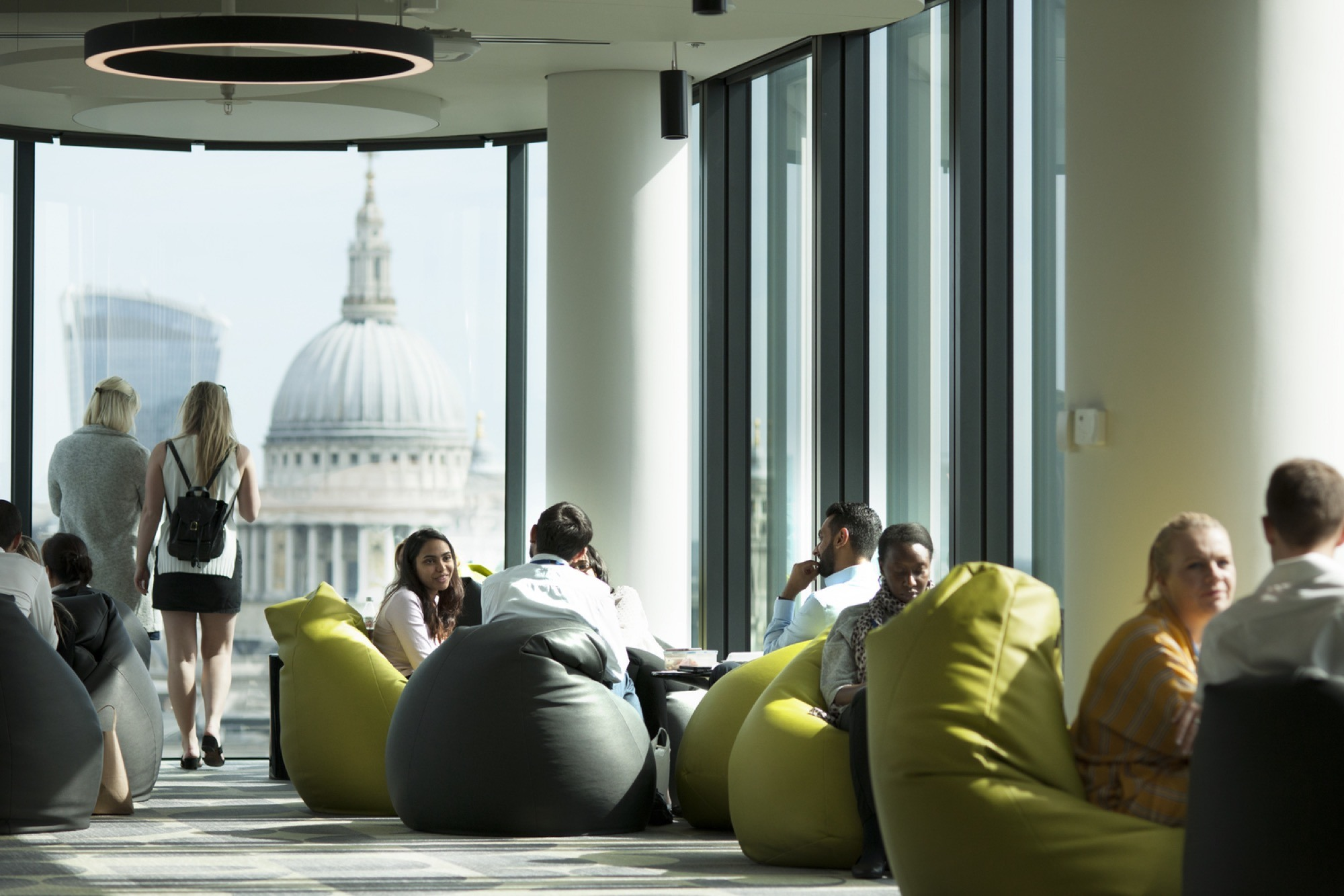 Deloitte bean bags in office fit out