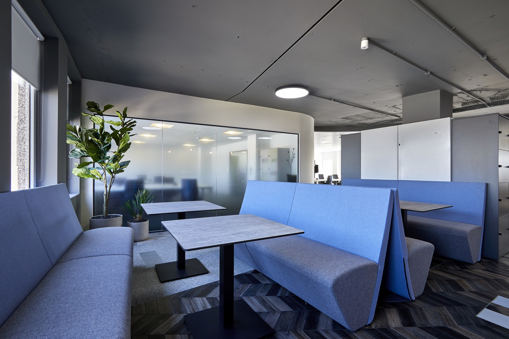 FIS breakout area in office design and build
