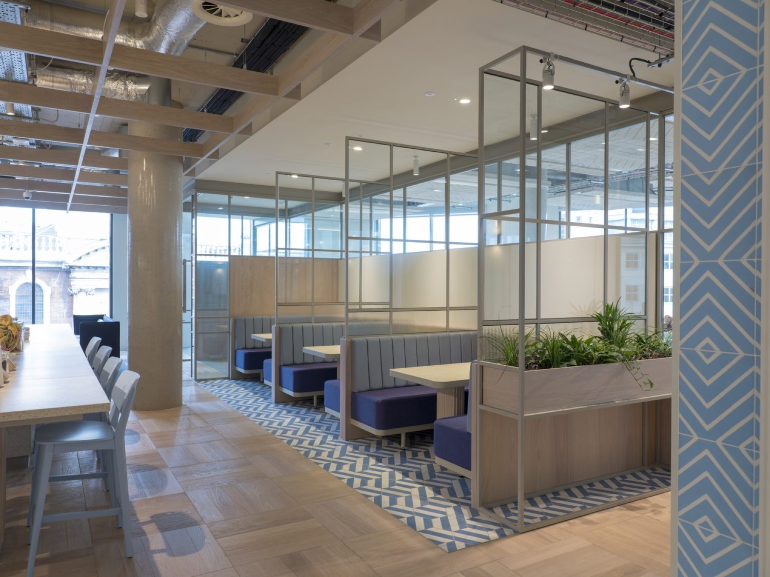 Fora coworking office meeting booths