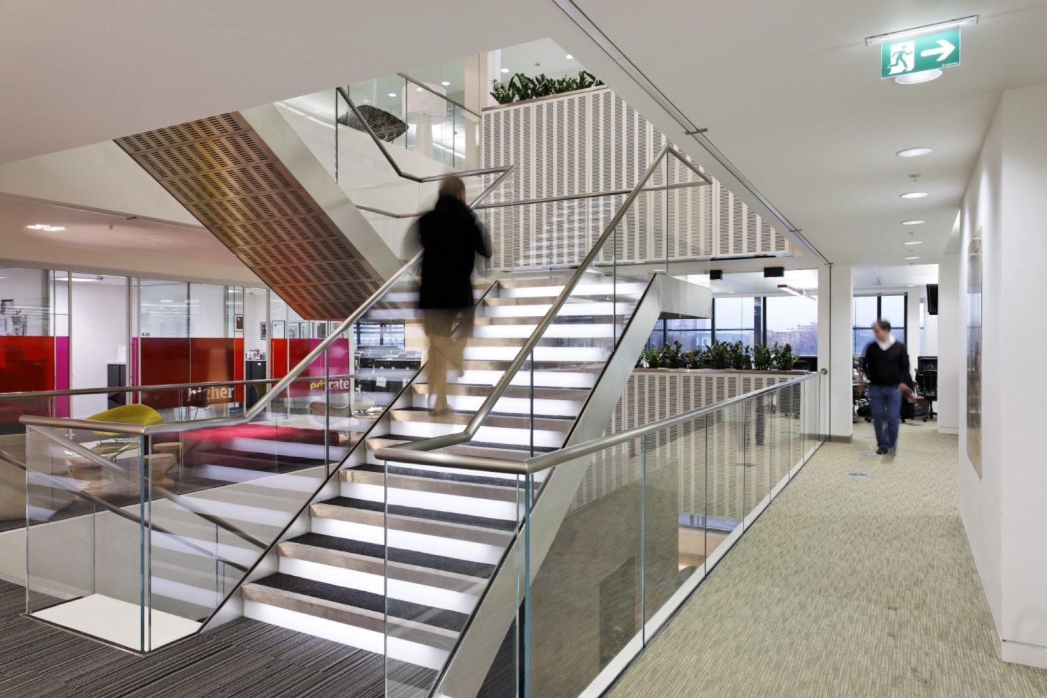 Guardian stainless steel glass staircase