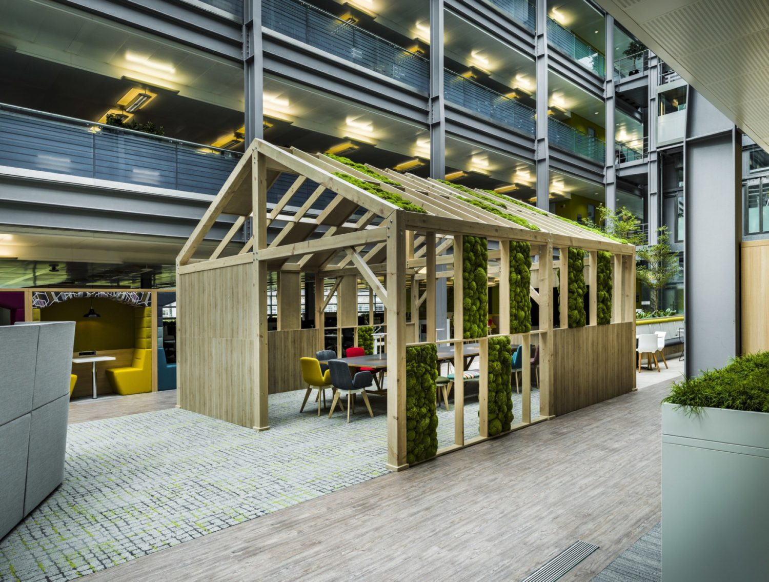 HMRC biophilic office breakout space