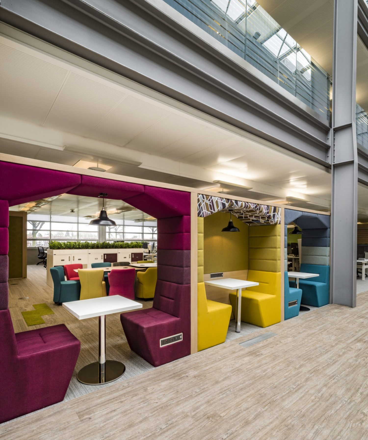 HMRC colourful office booth
