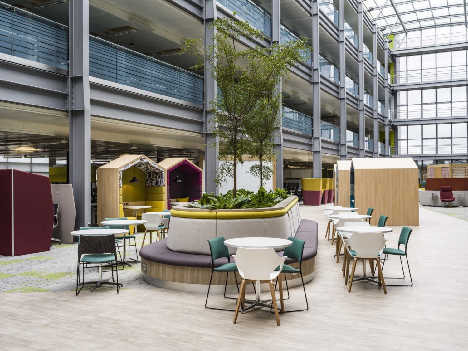 HMRC trees and office pods
