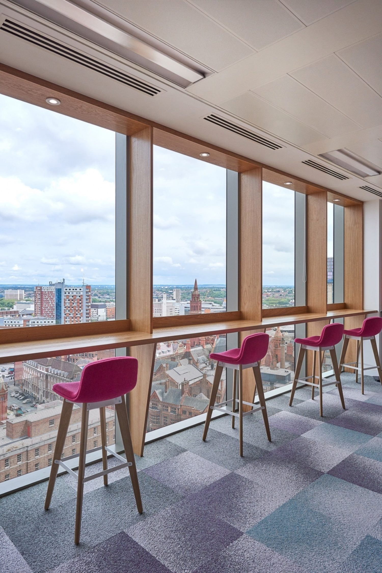 Interface Flooring office design with view