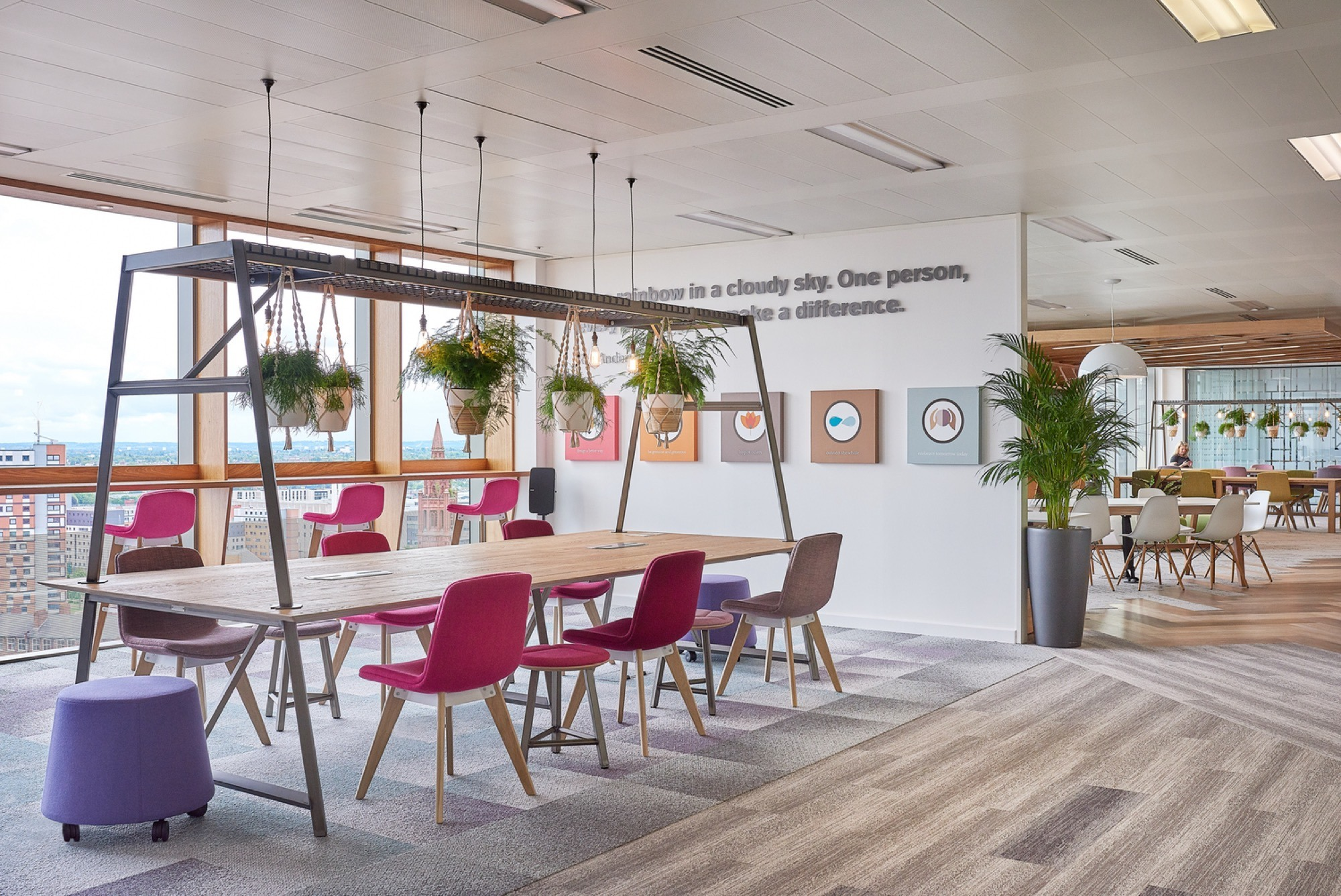 Office fit out with Inteface flooring