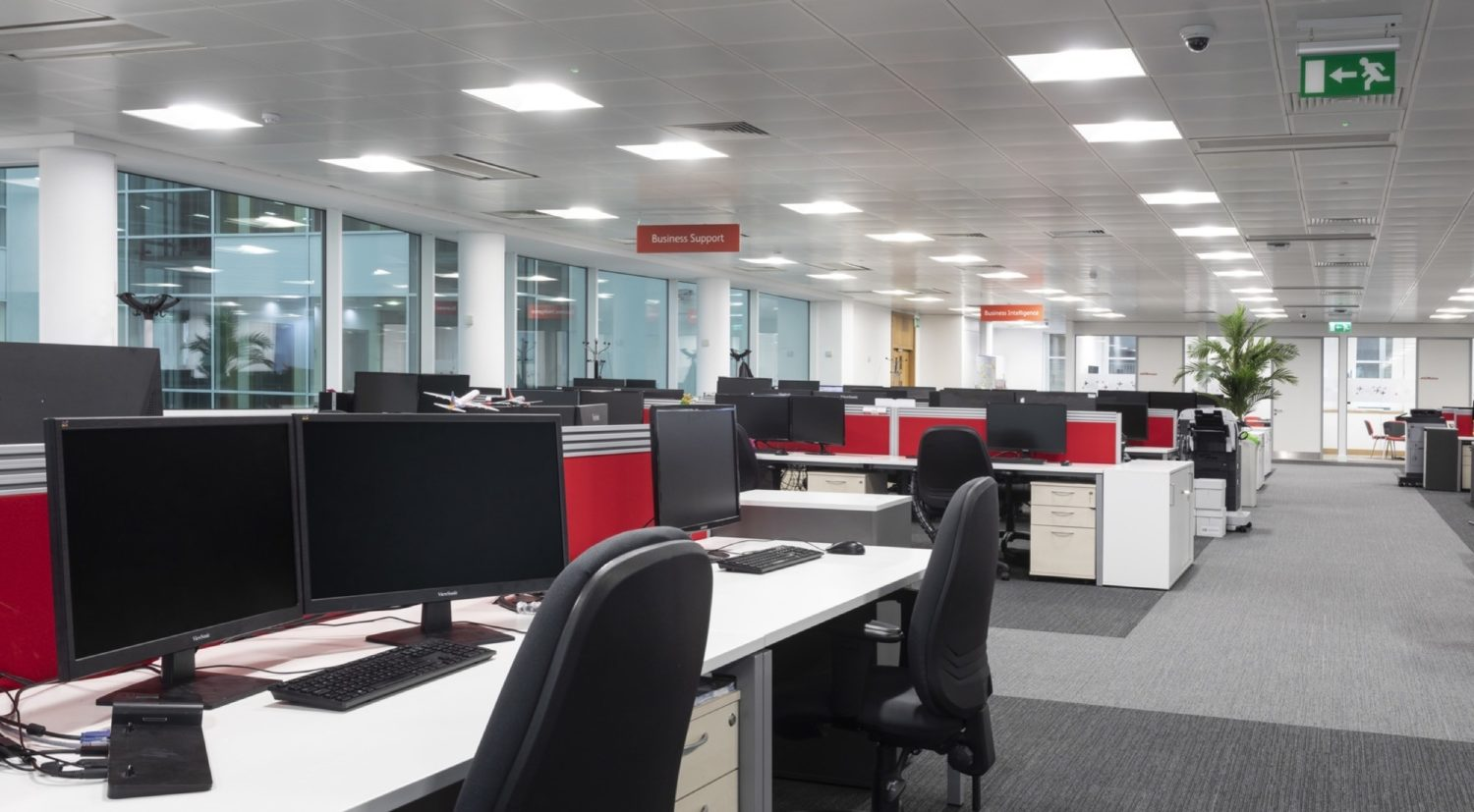 Jet2 open plan office fit out