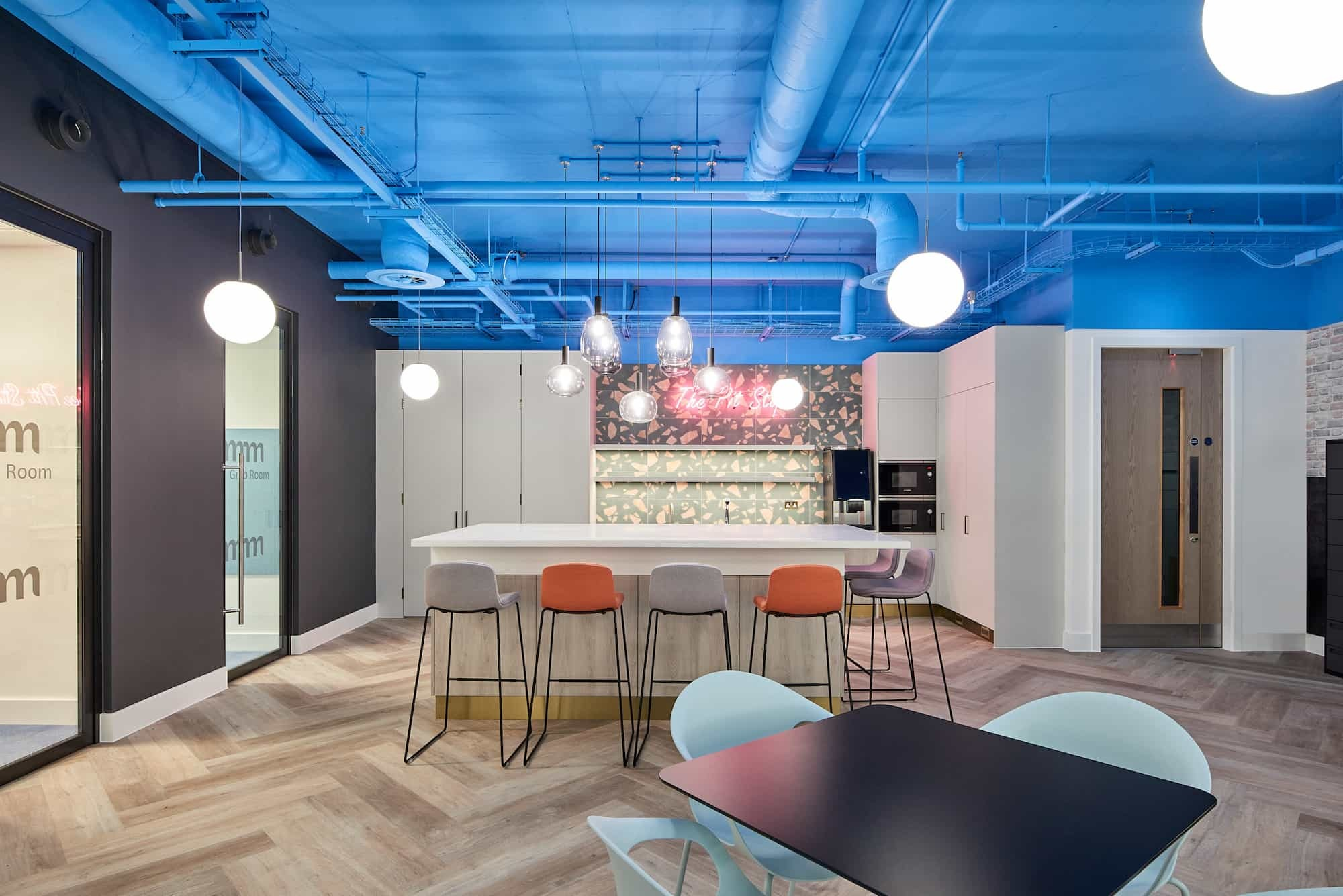 Mazars breakout area fit out