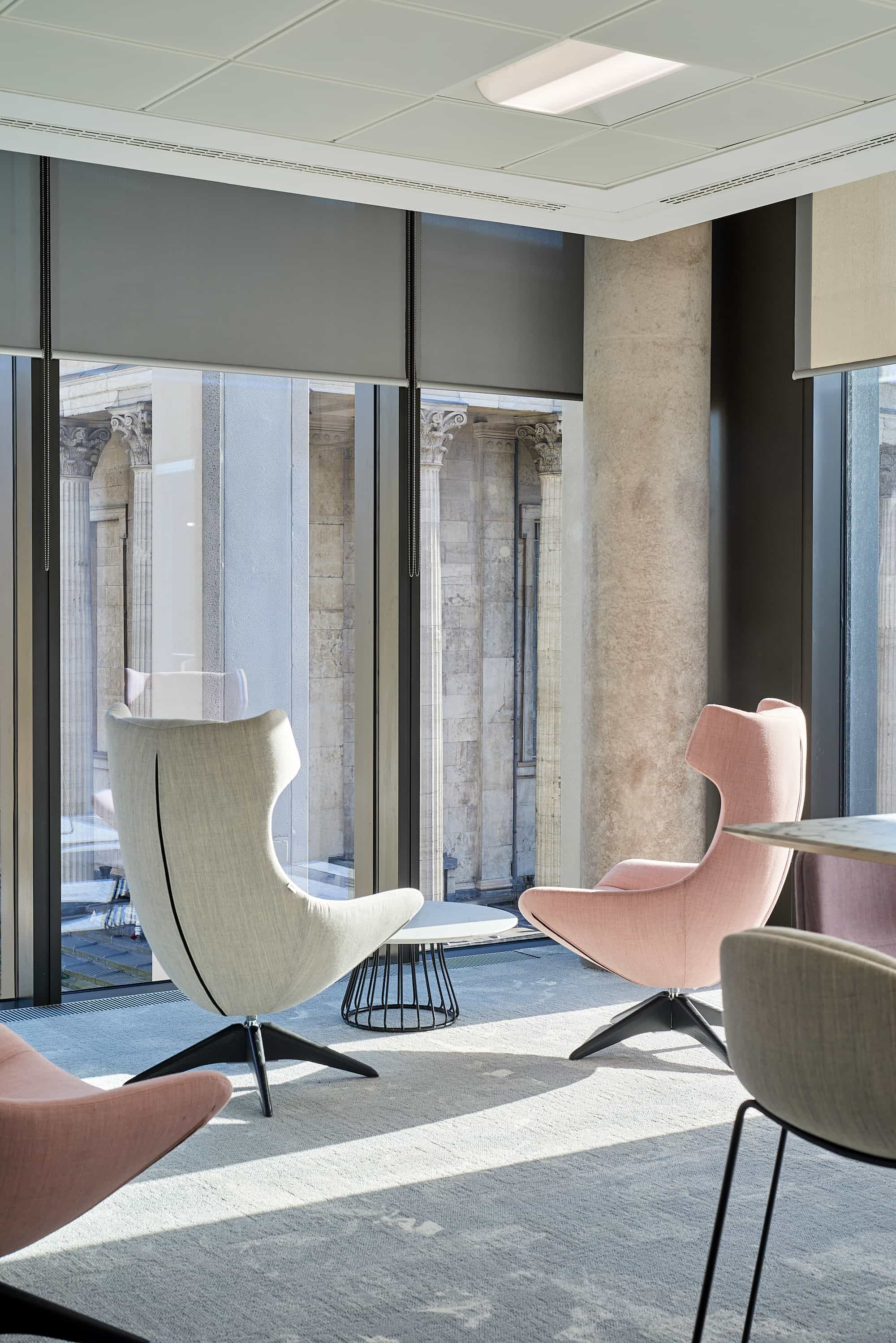 Mazars chairs in breakout space