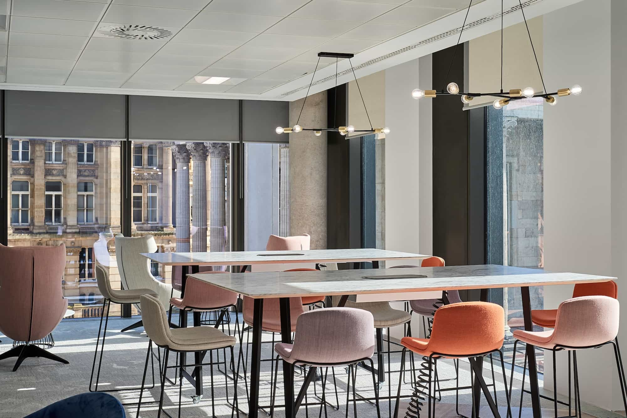 Mazars office dining area fit out