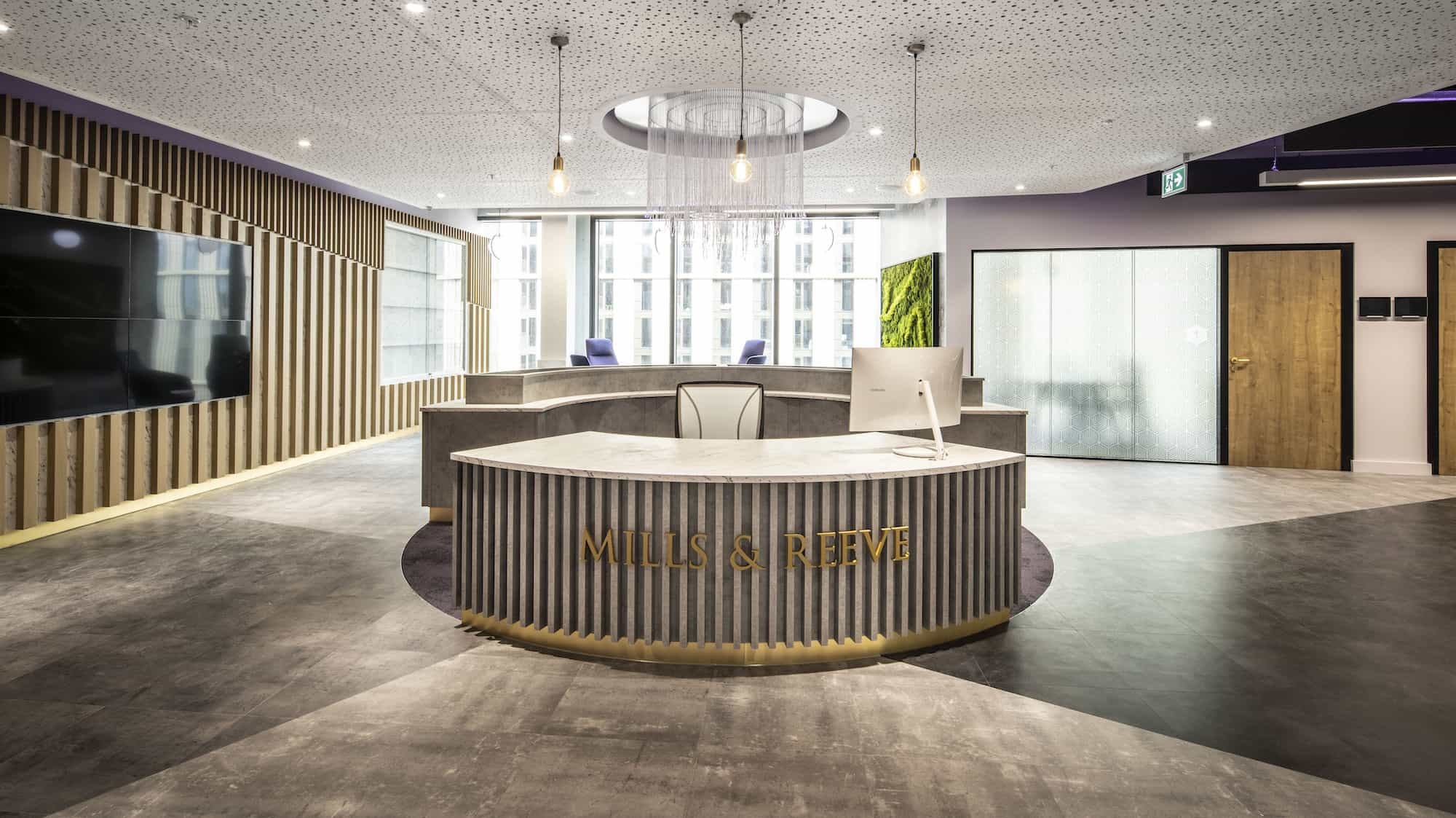 Mills Reeve reception design and build