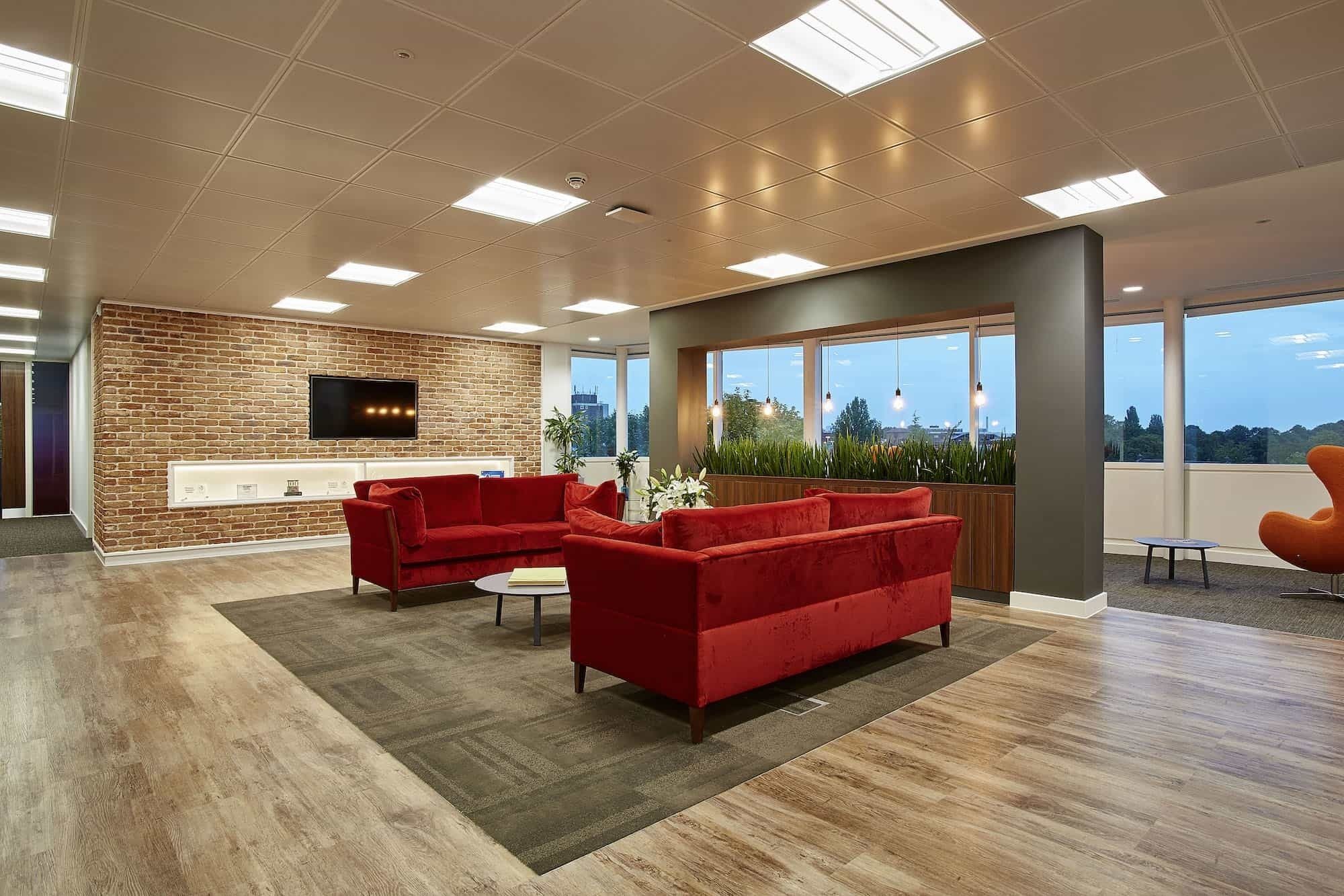 Phoebus natural wood breakout area fit out