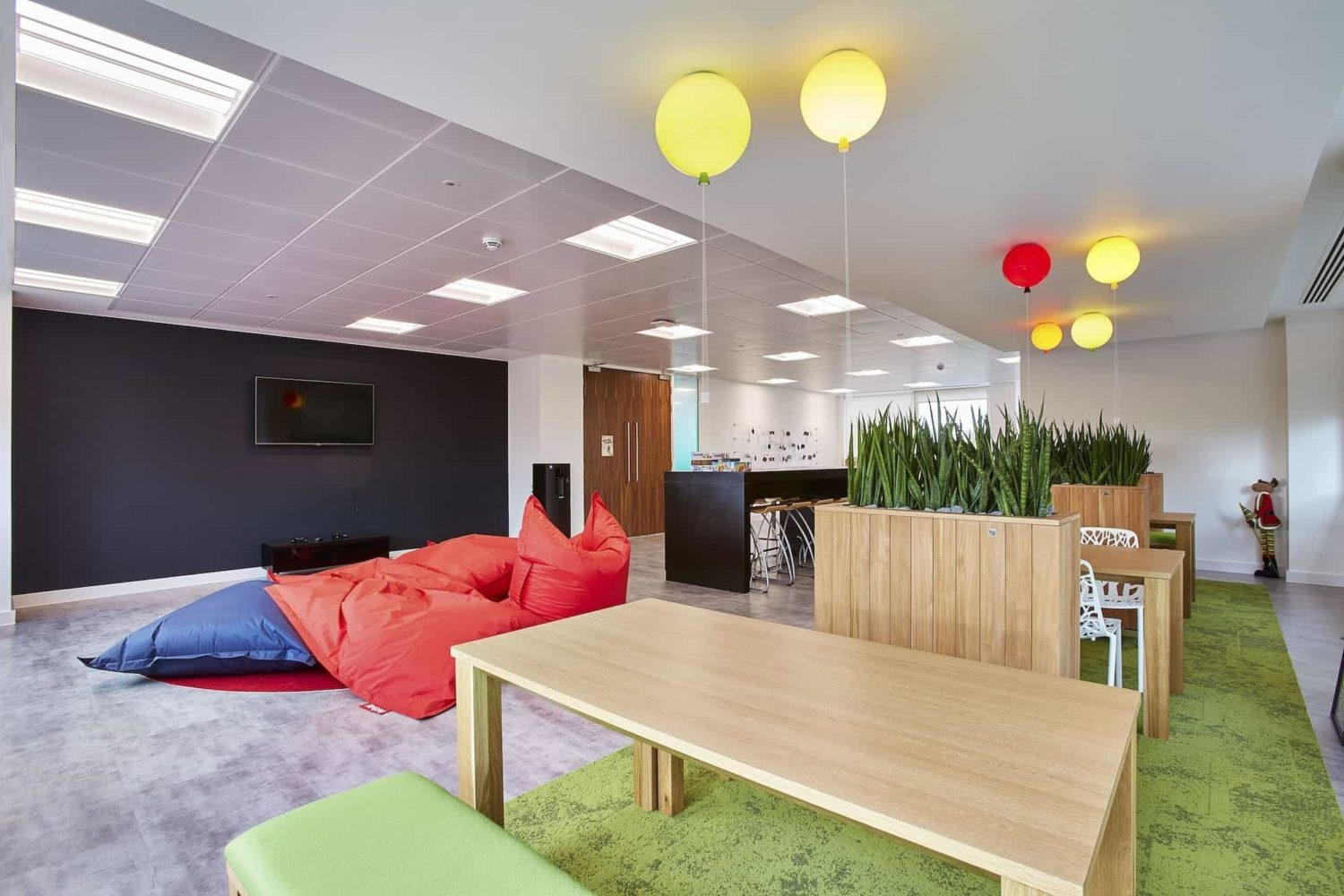 Phoebus bean bags in creative office fit out