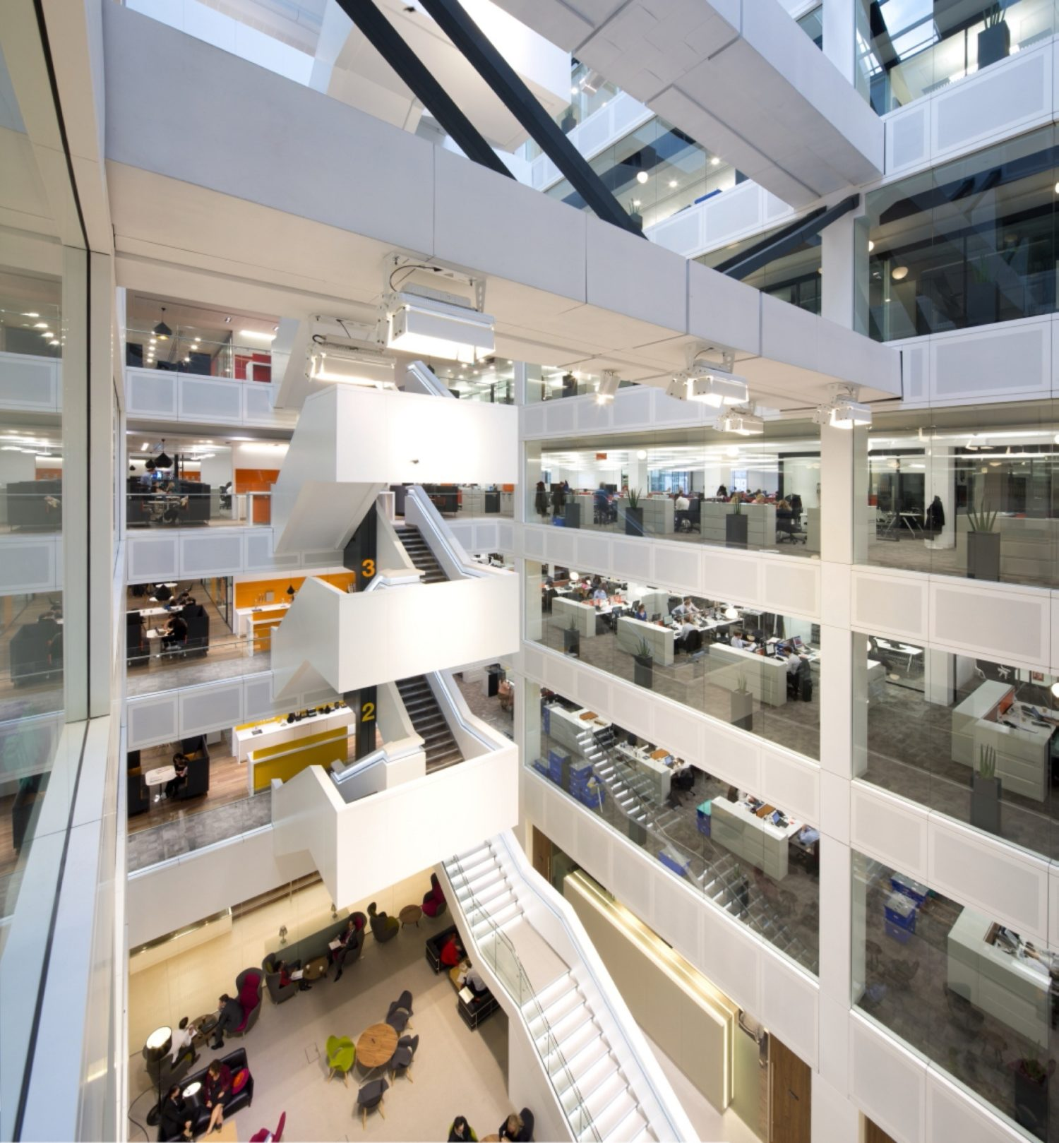 PwC atrium office fit out