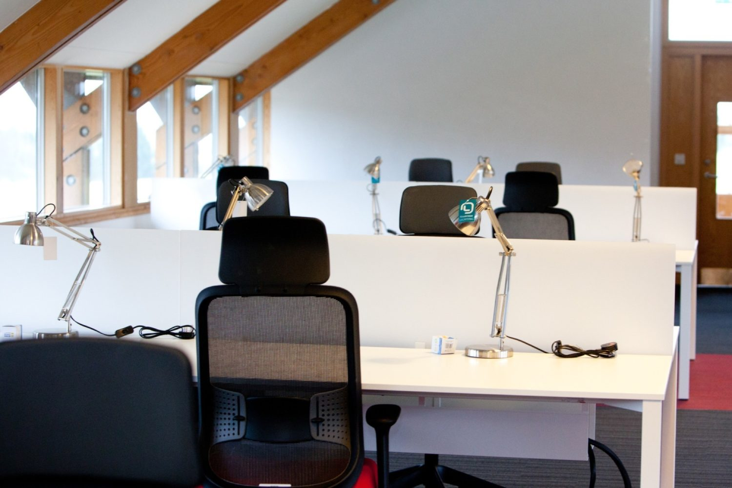 Rare Games office fit out with pitched ceilings
