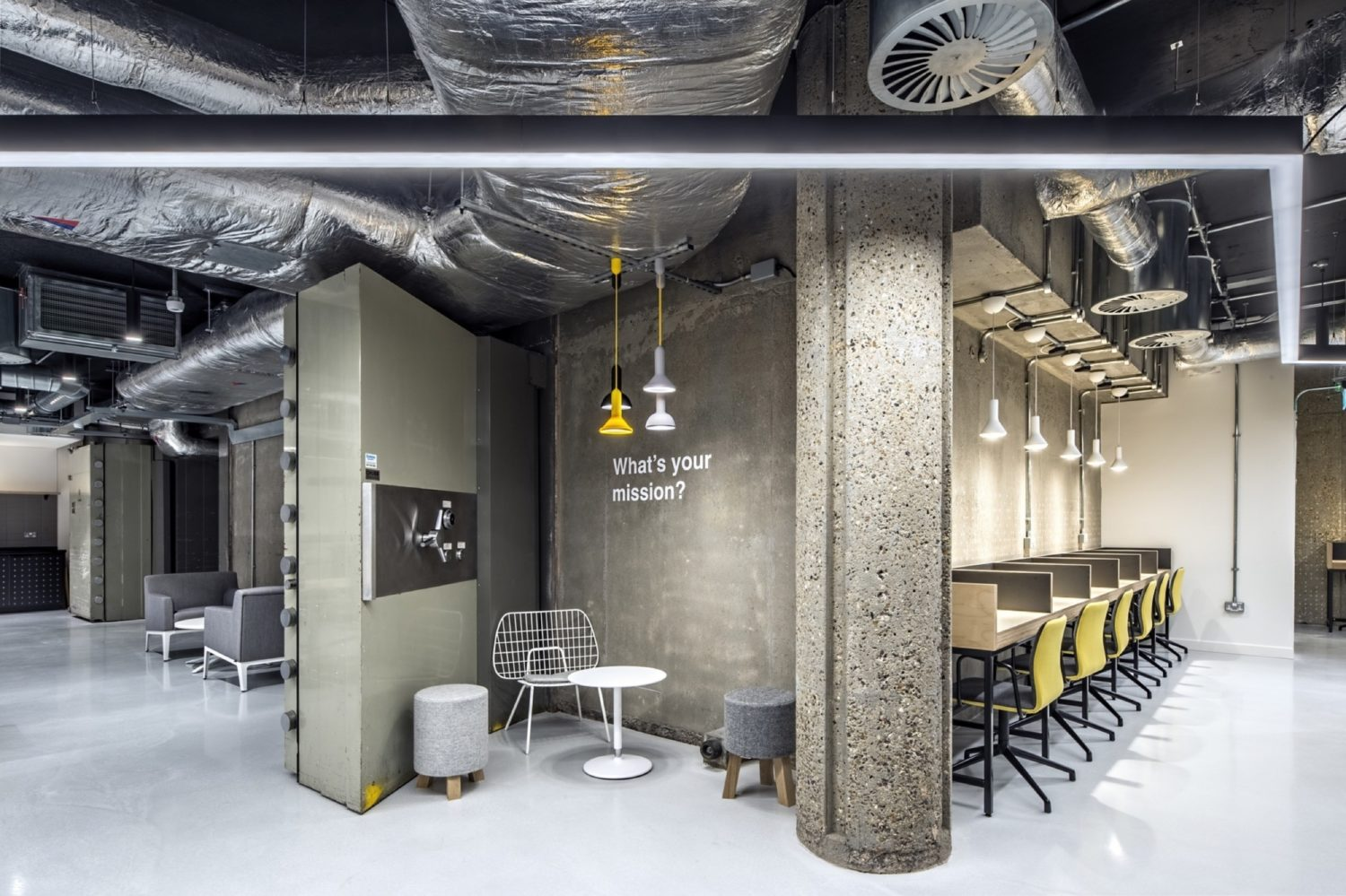 Rocketspace exposed services in office fit out