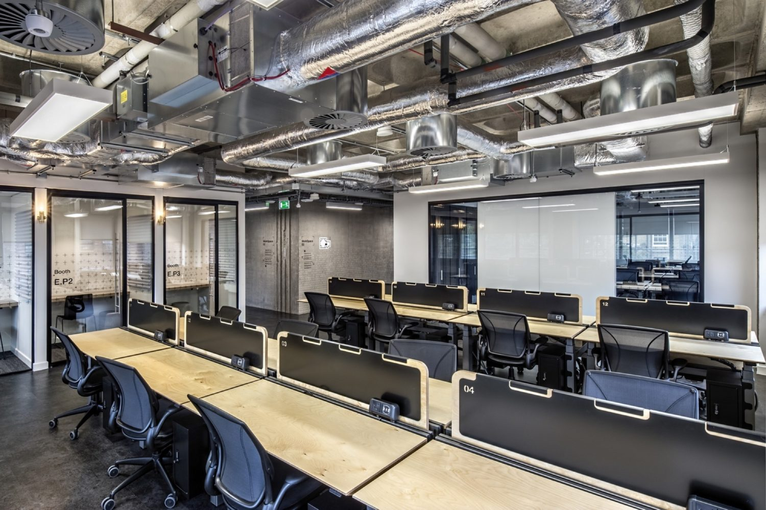 Rocketspace open plan fit out for acoustics