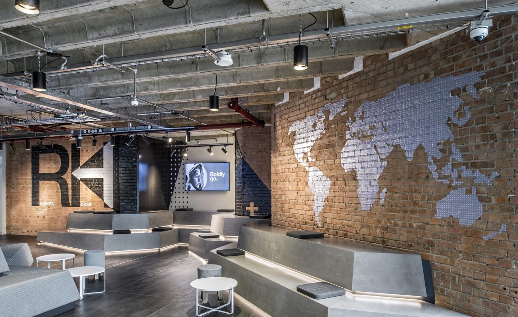 rocketspace trendy coworking space fit out