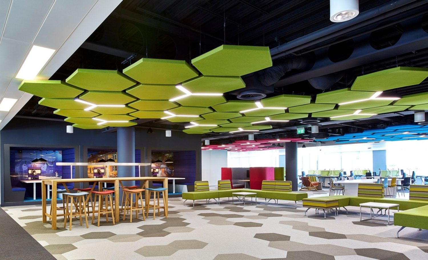 Thales office fit out acoustical ceiling panels