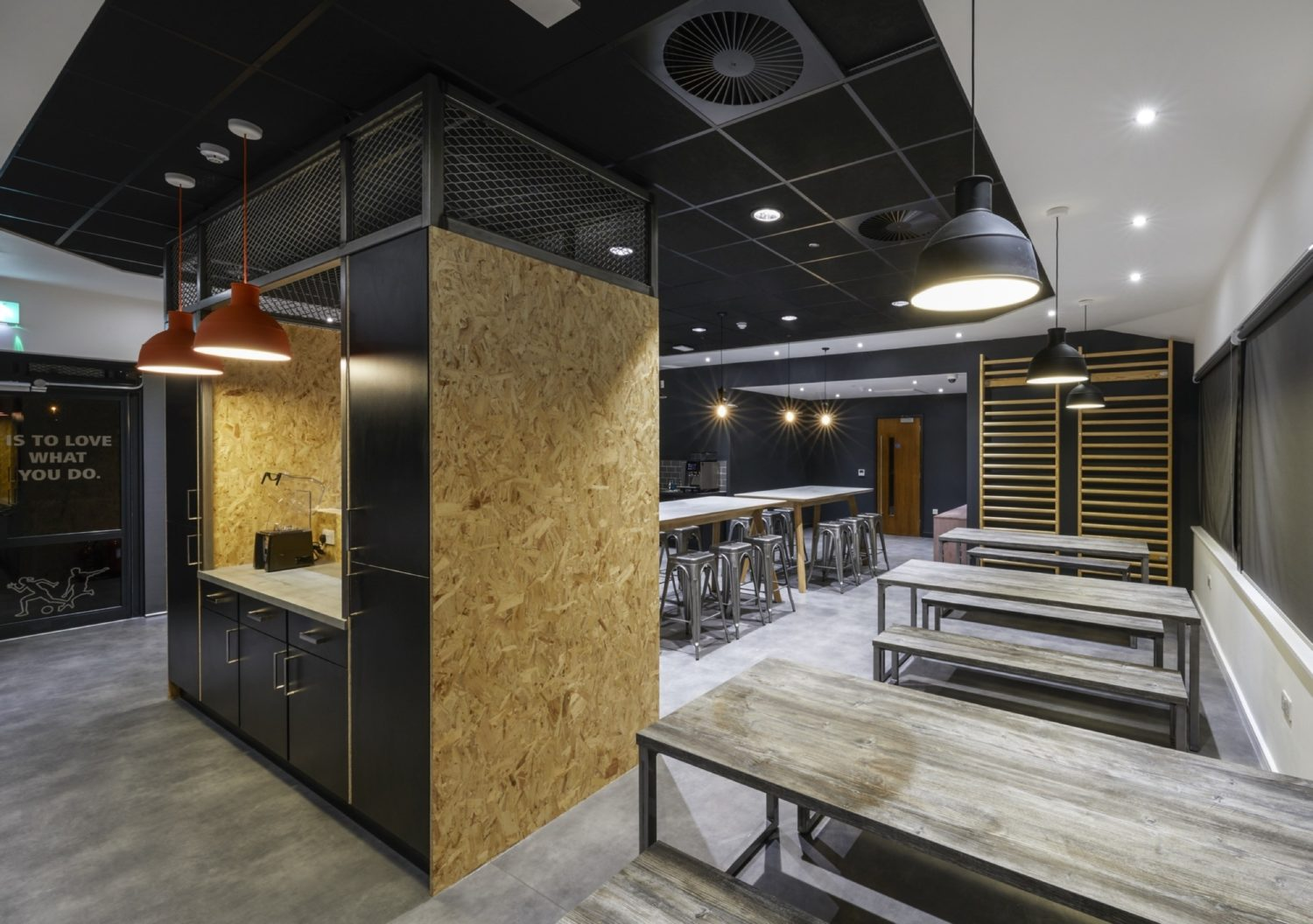 MyProtein trendy office kitchen fit out