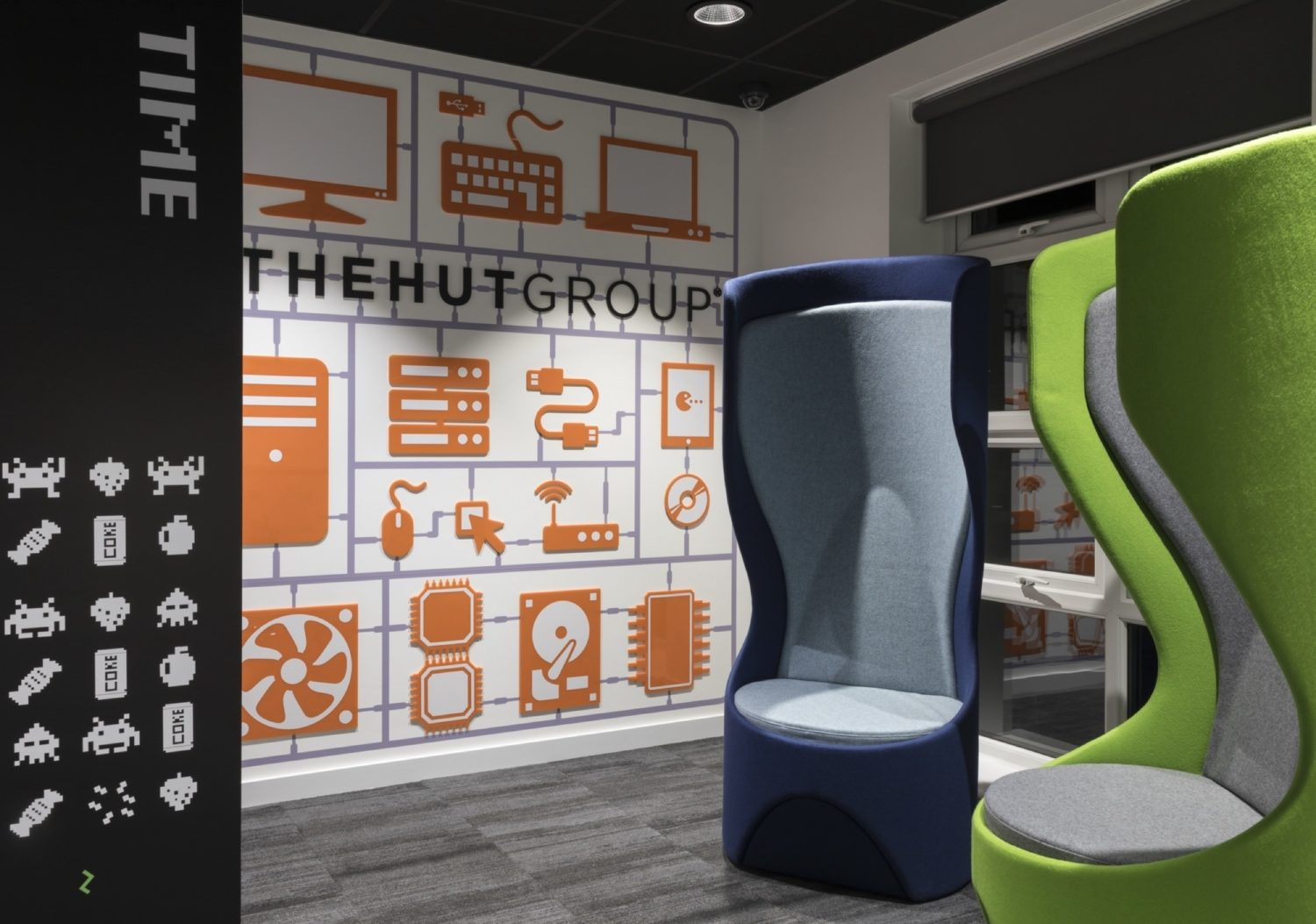 The Hut Group meeting pods with soft furnishings