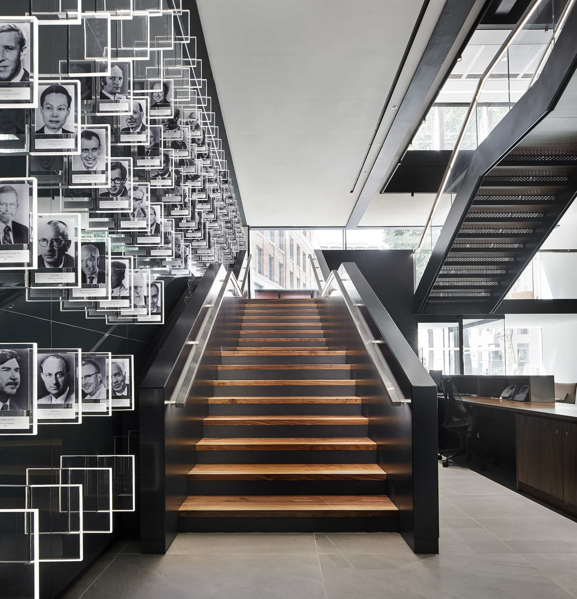 Chicago Booth London portrait staircase