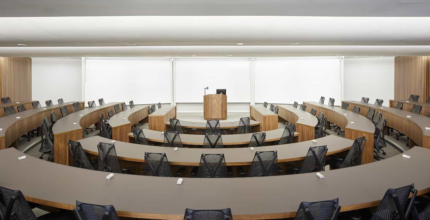 Chicago Booth lecture hall design and fit out