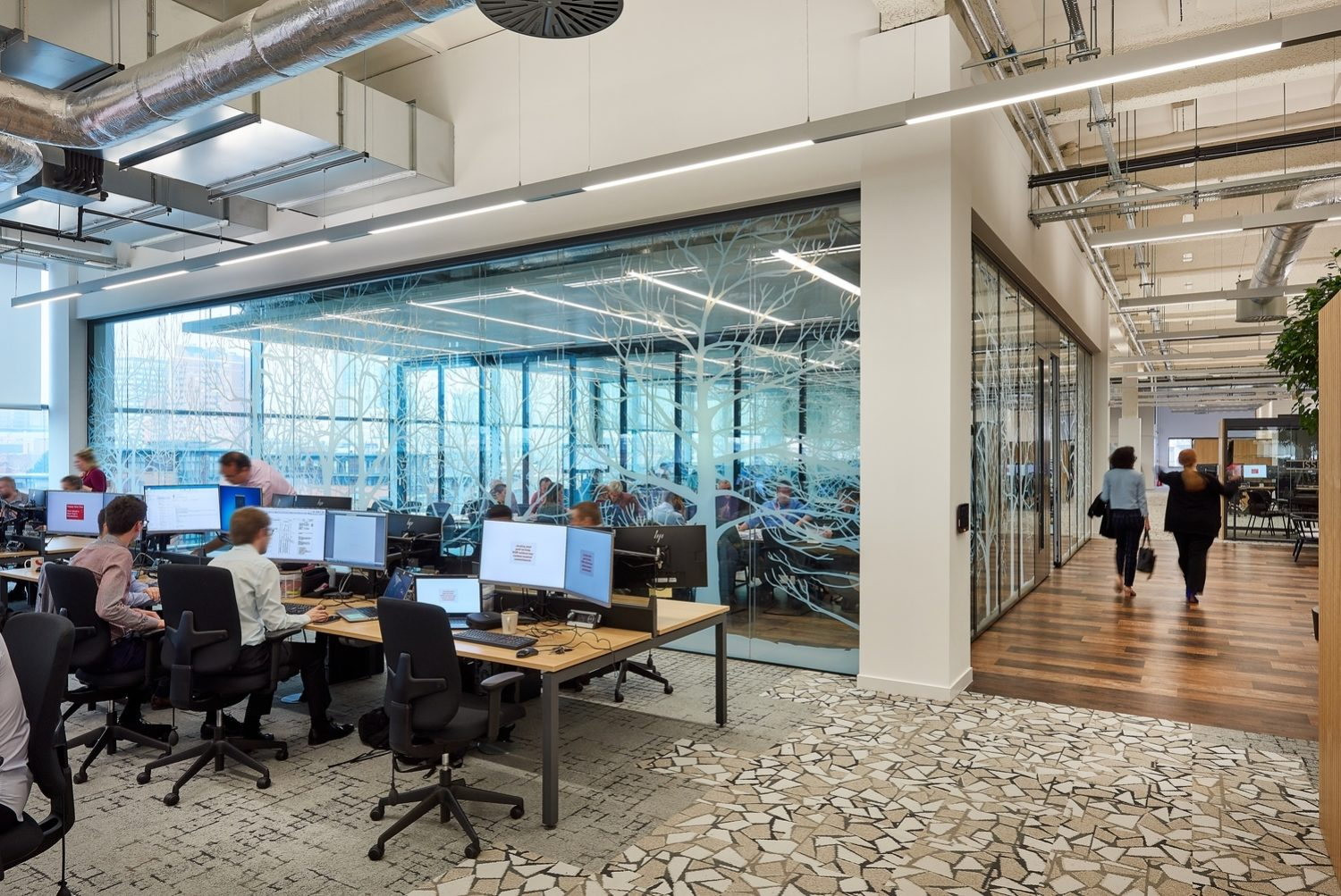 WSP open plan office fit out
