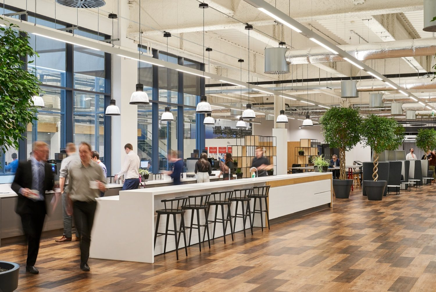 WSP breakout area fit out for wellbeing