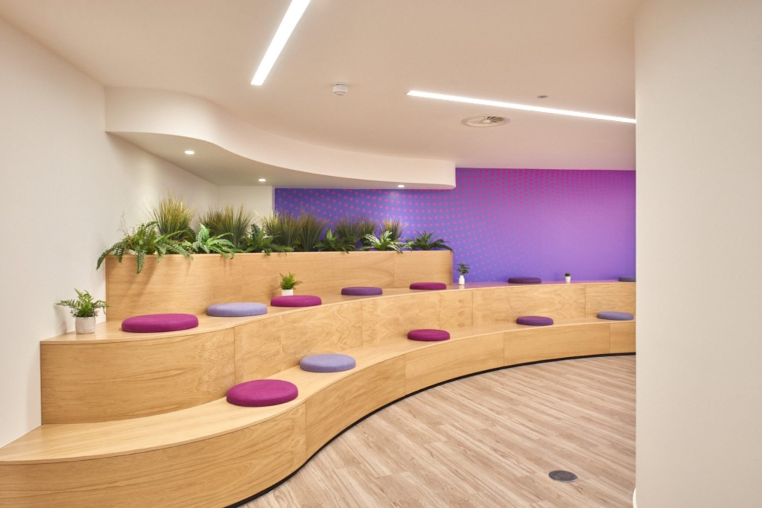 Finastra bleacher seating fit out