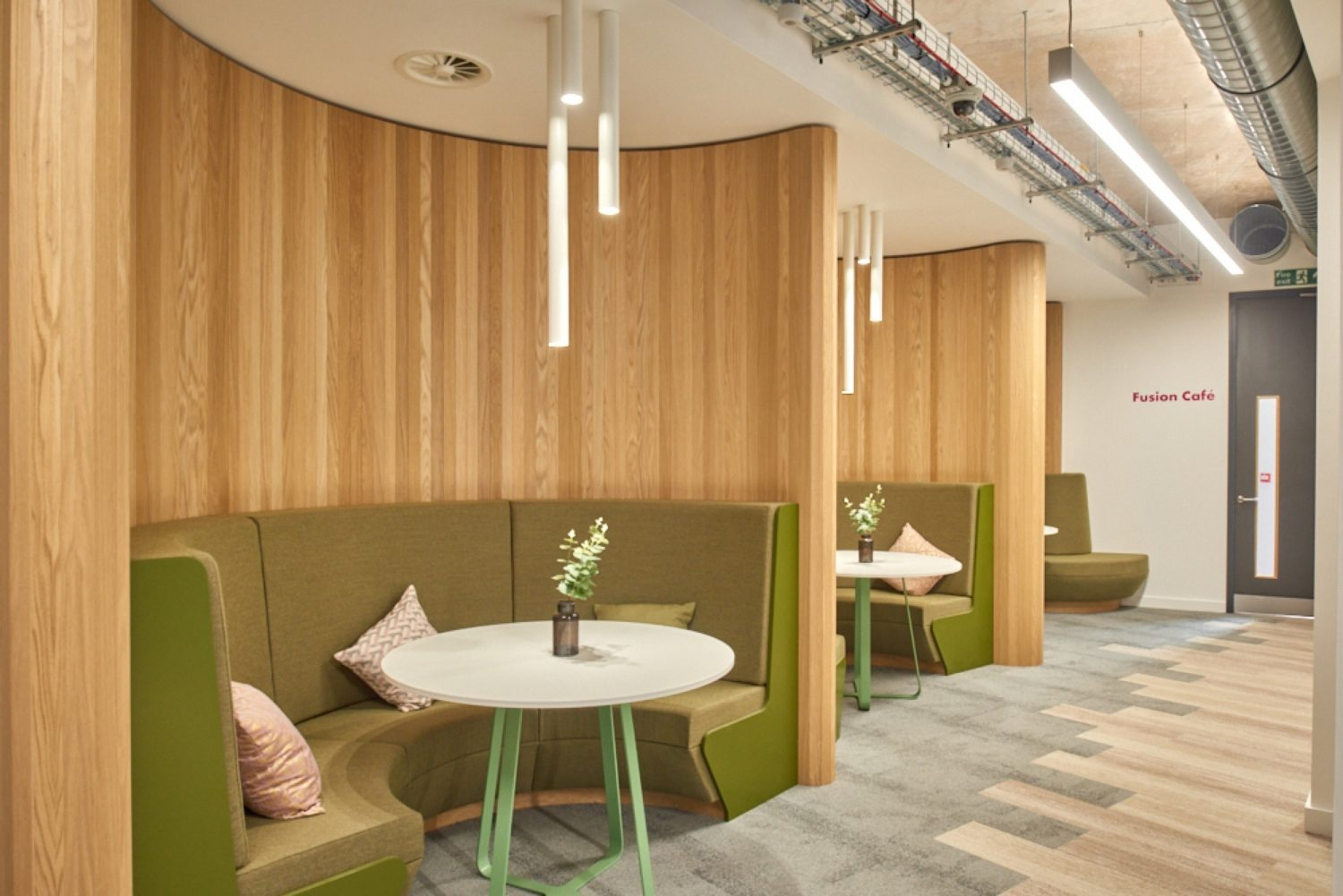 Finastra breakout area in office design and build
