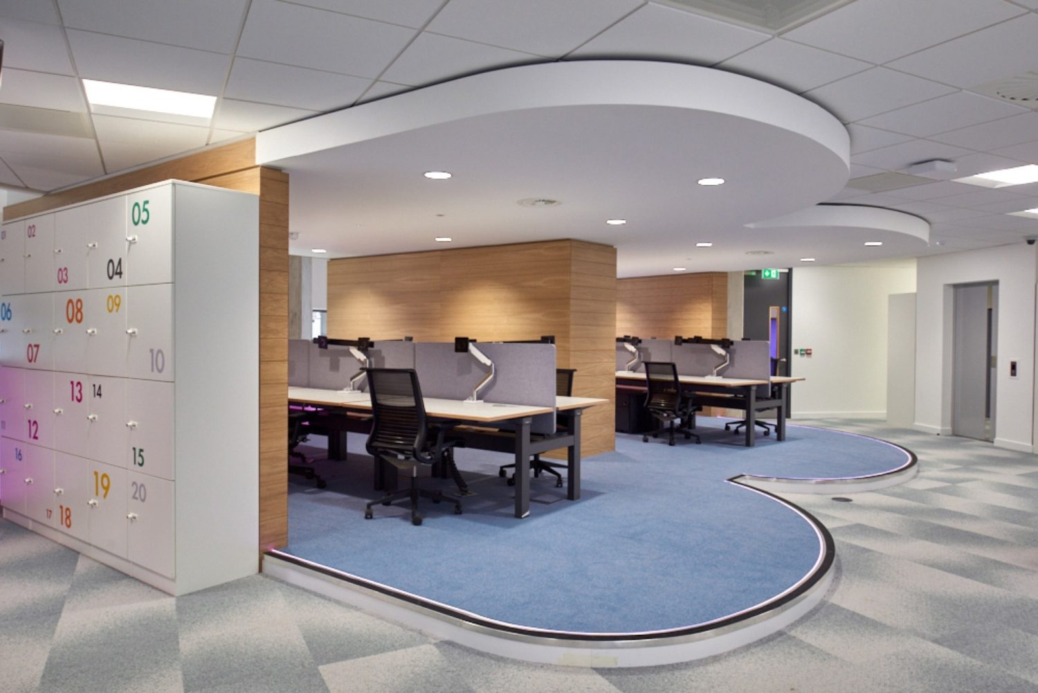Finastra curved workstation fit out
