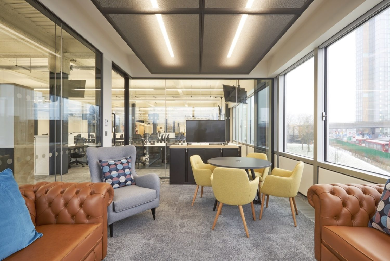 ITV office fit out with natural light