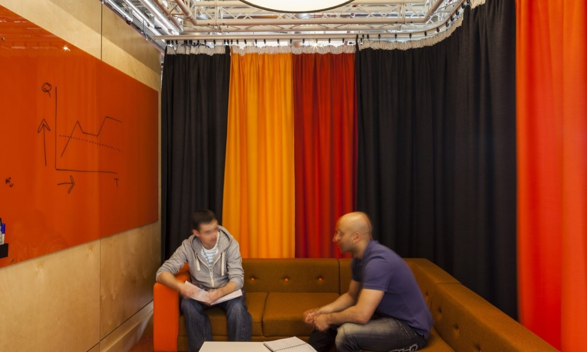 drapes in private meeting area