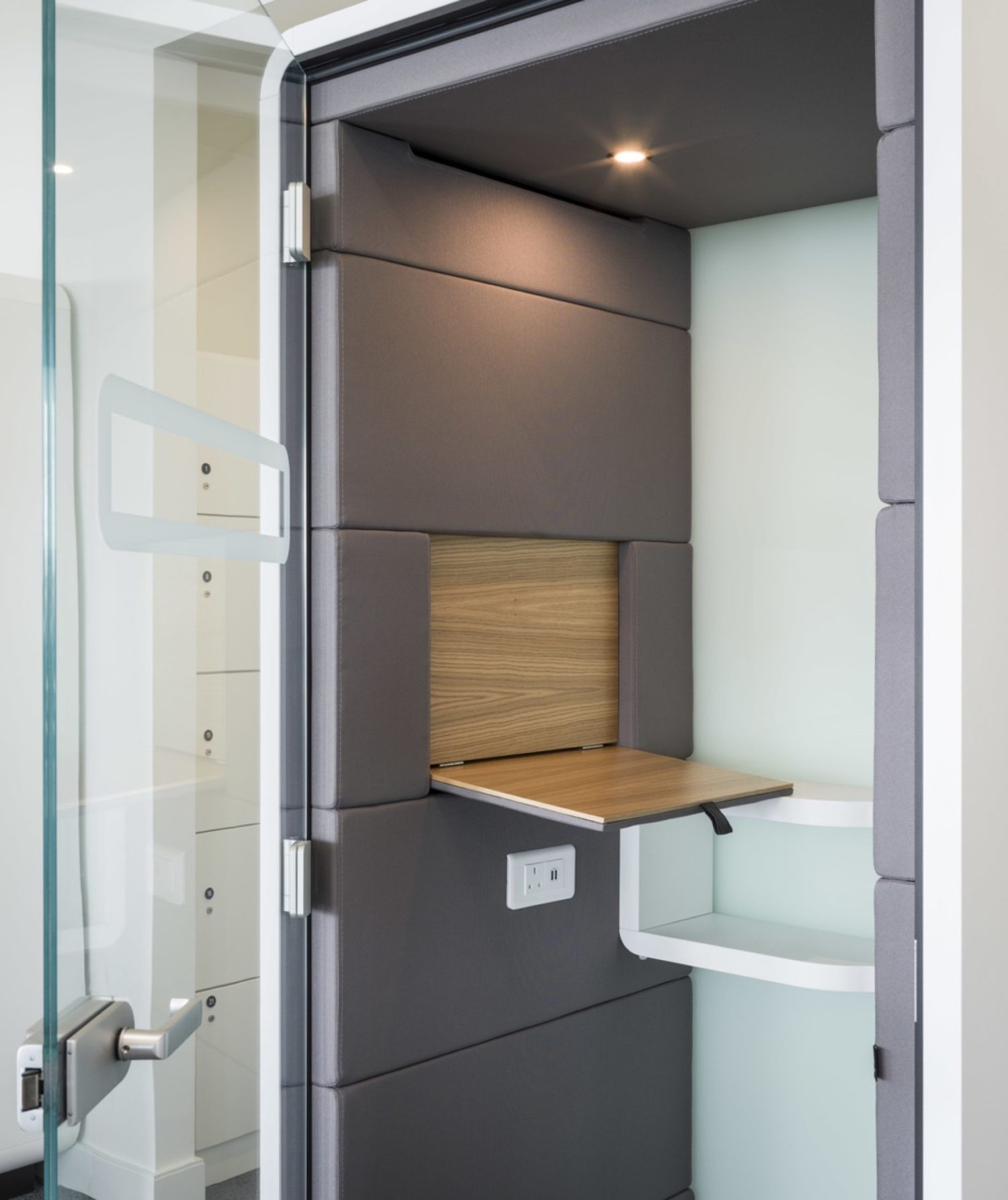 JLL privacy booth in office fit out