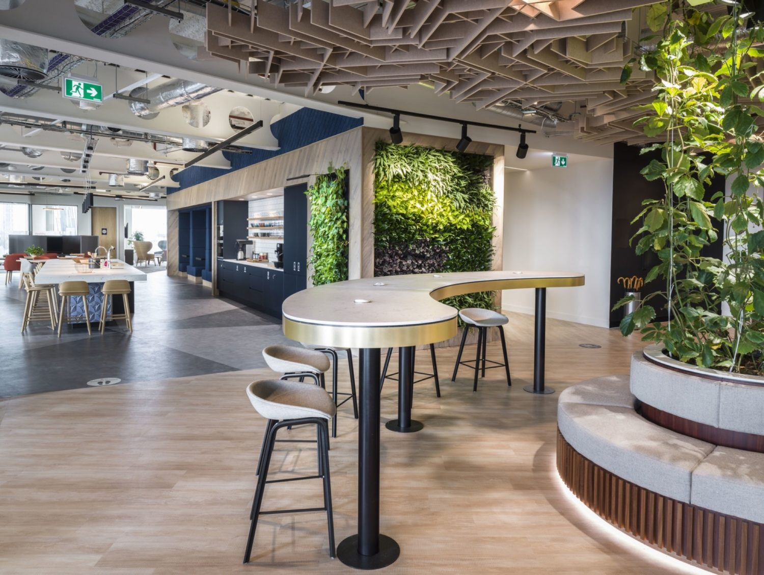 JLL living wall in reception