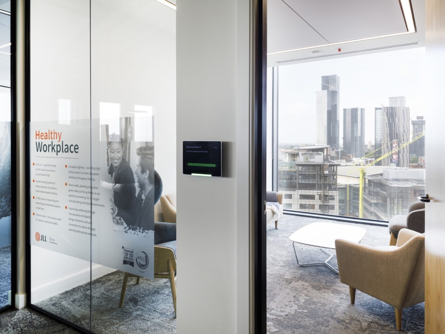 JLL Manchester meetng room fit out