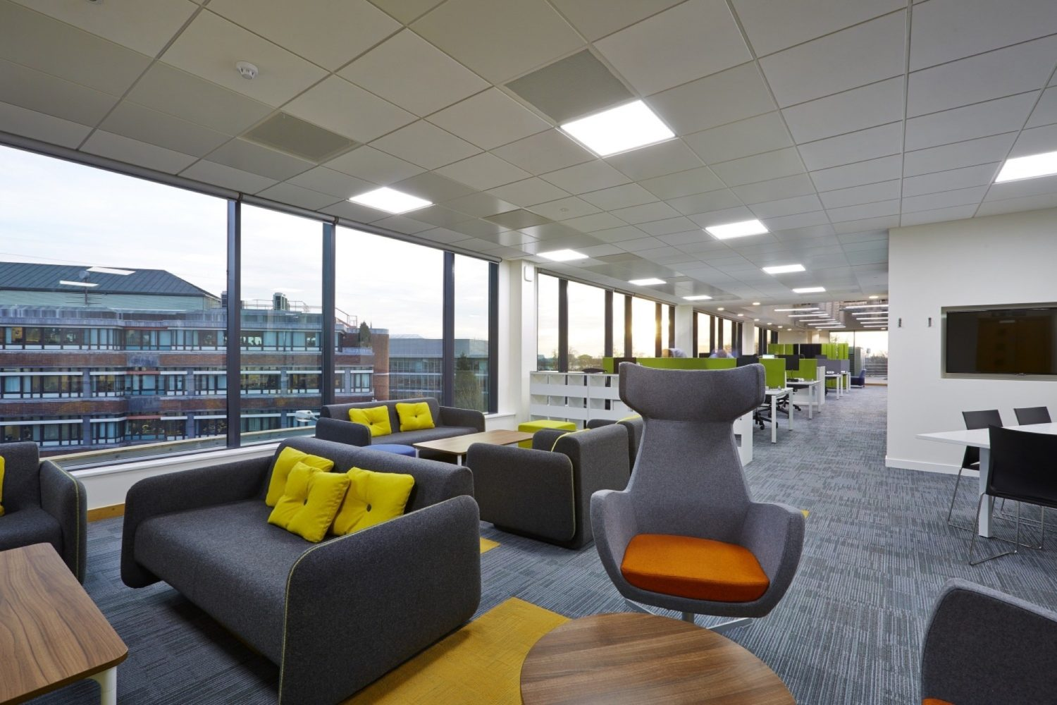 Npower innovation zone in office fit out