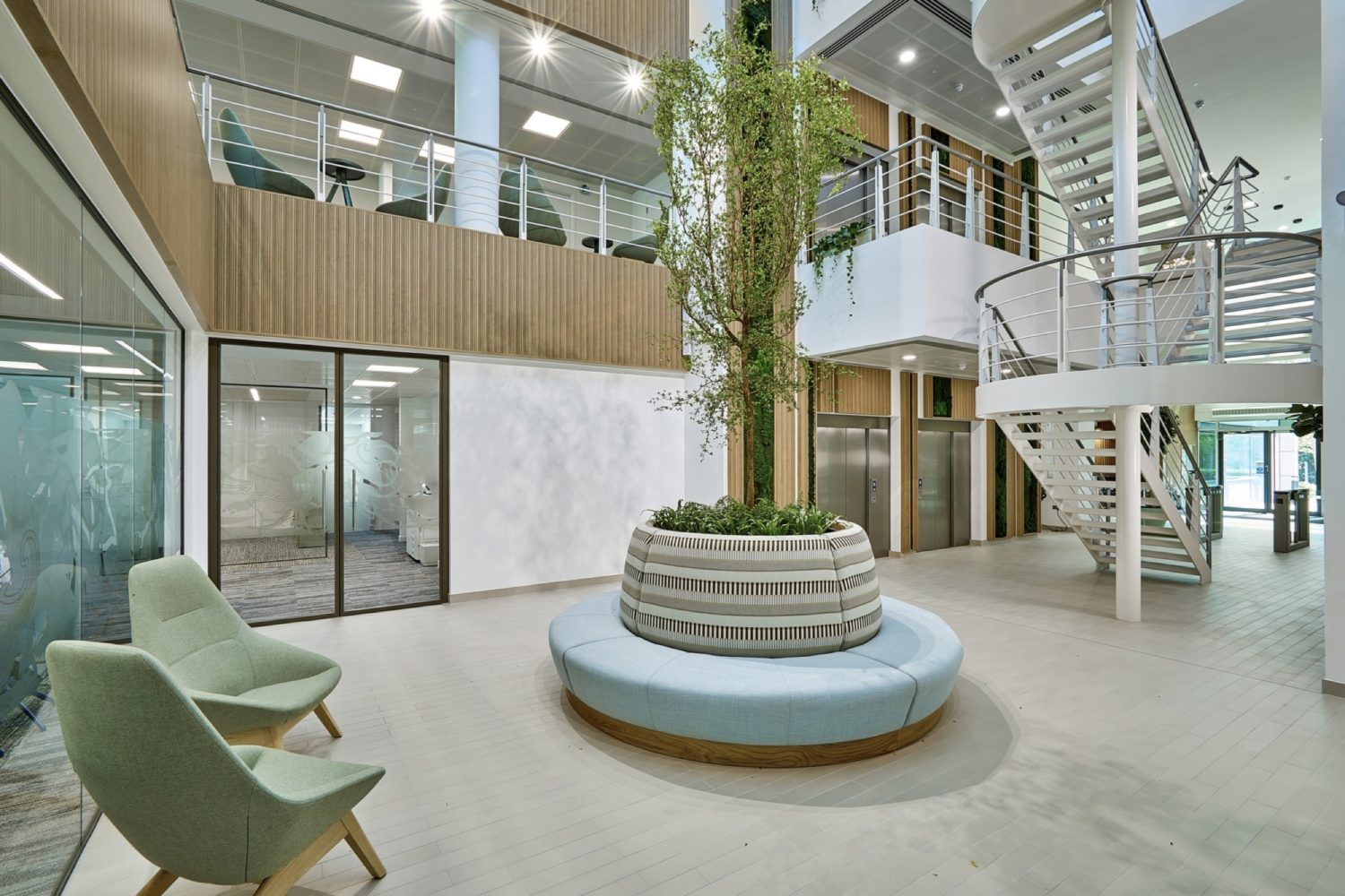St James place biophilia in office fit out