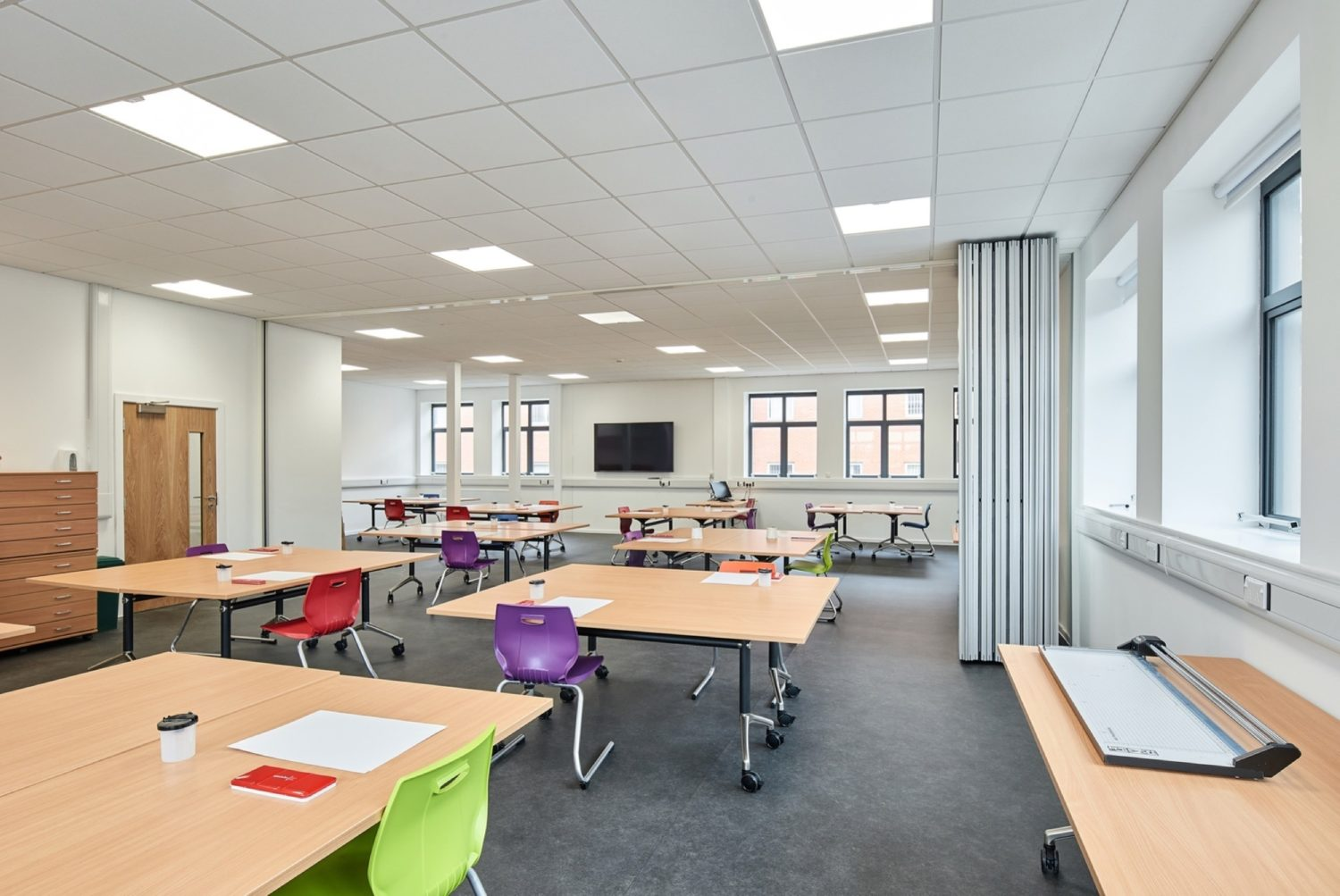 Stratford classroom with adjustable walls