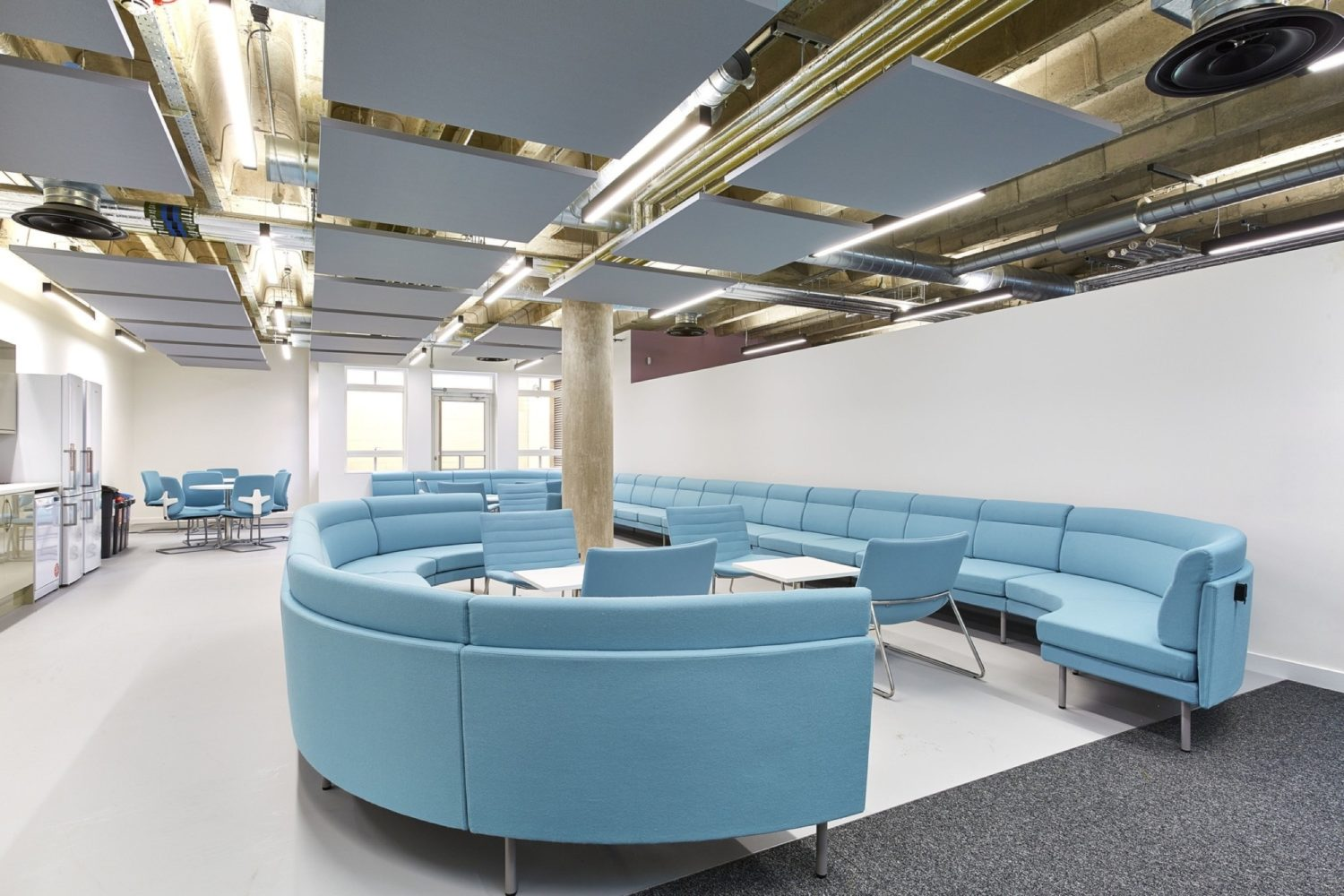 University Bristol office fit out communal area