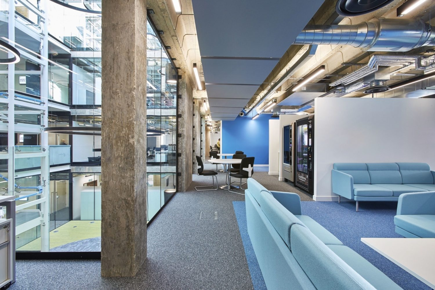 University Bristol office fit out with exposed services