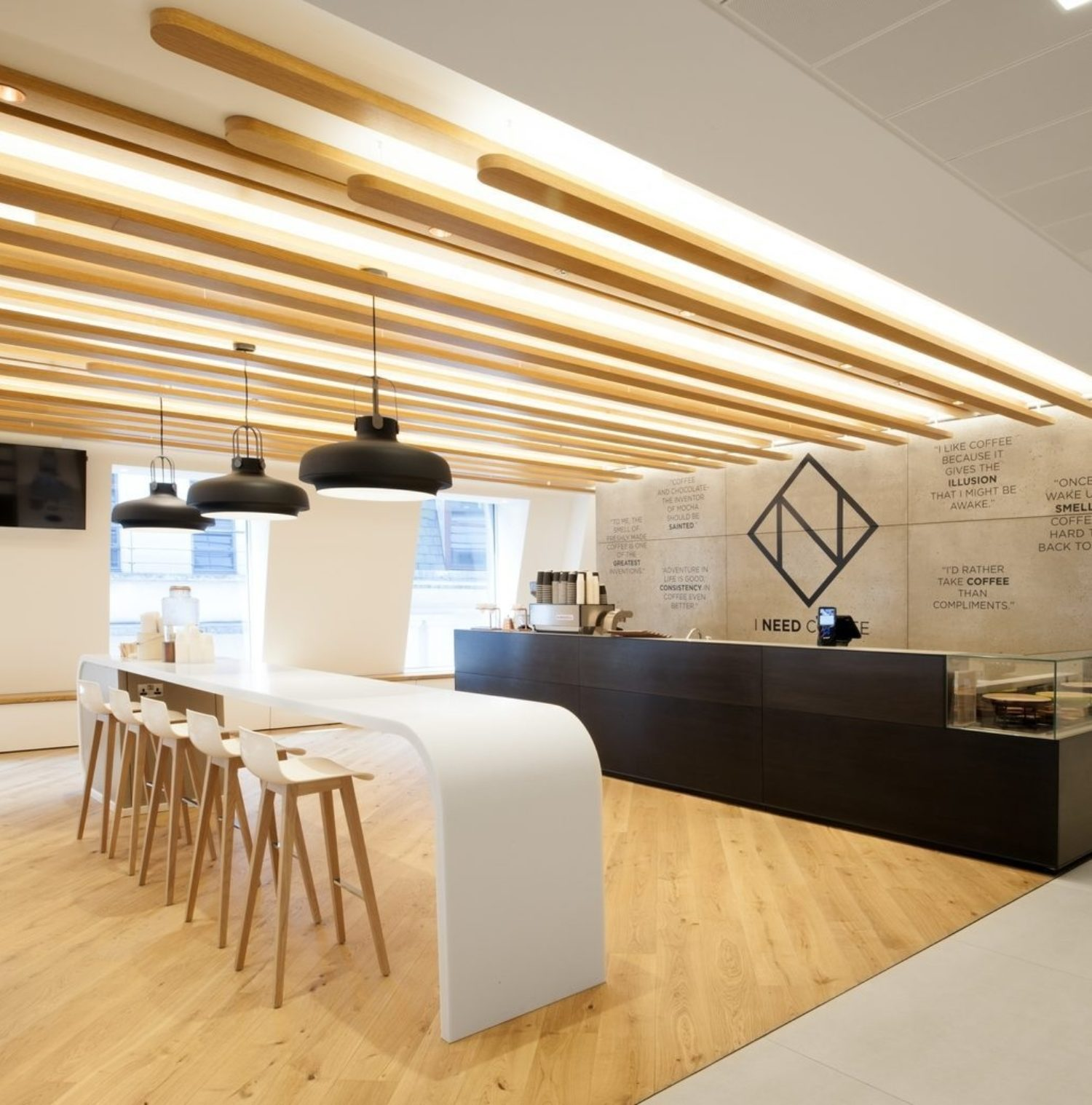 ING timber ceiling office fit out